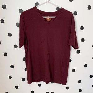 🌈5/$25🌈21MEN maroon v neck size L